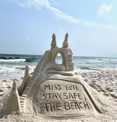 STAY SAFE SANDCASTLE